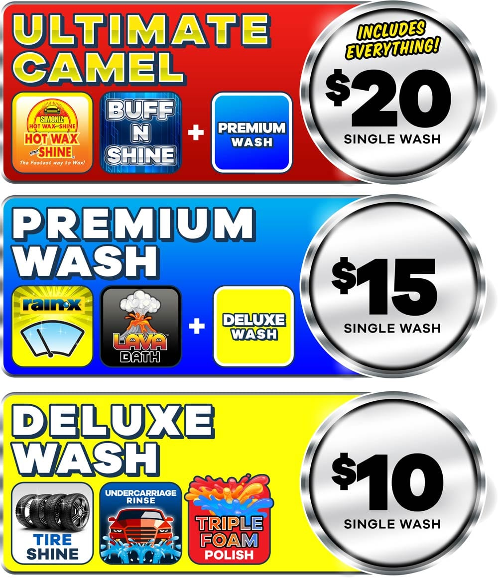 Camel Express Car Wash Price Menu 2